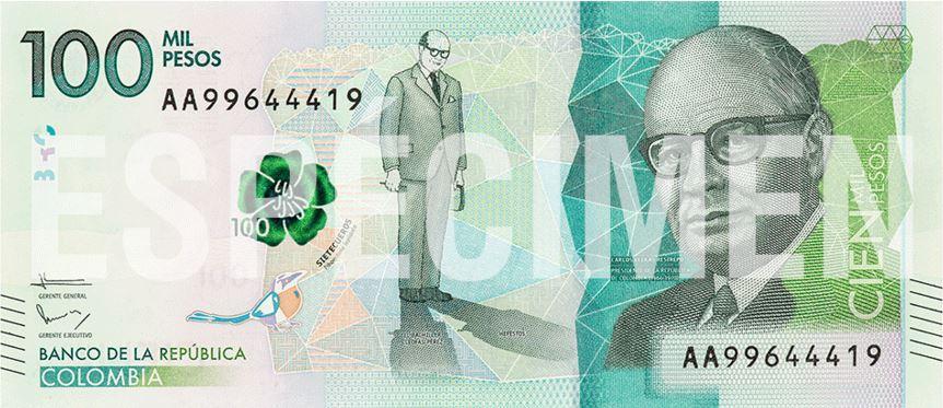 billete 100000 pesos anverso